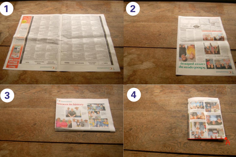 Origami steps 1 4