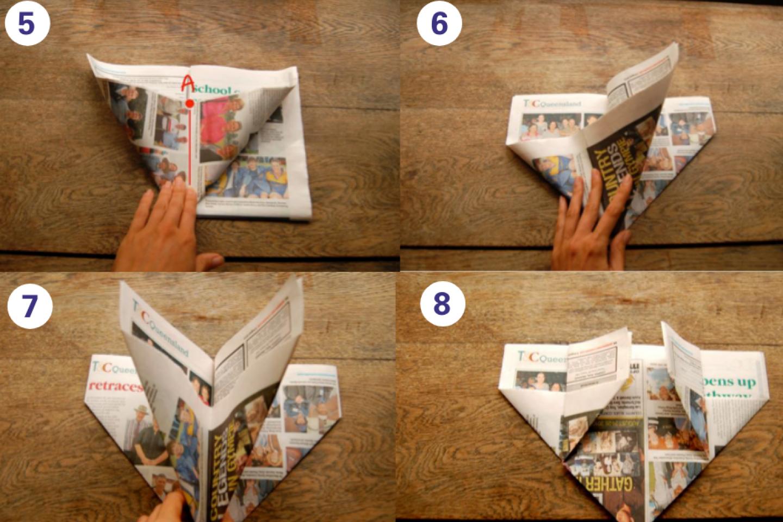 Origami steps 5 8