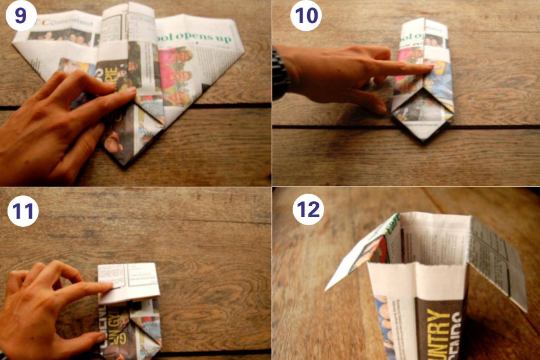 Origami steps 9 12