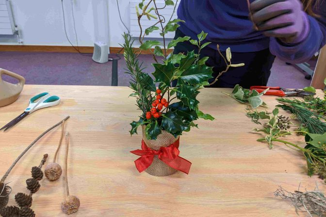 Festive table top decoration 5