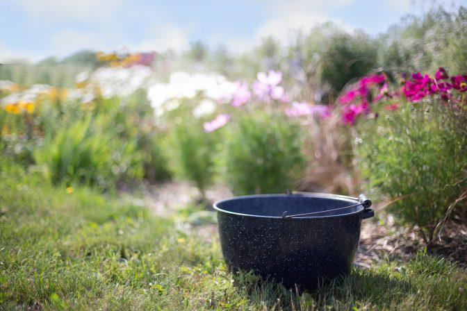 Stockvault washtub in the garden217700