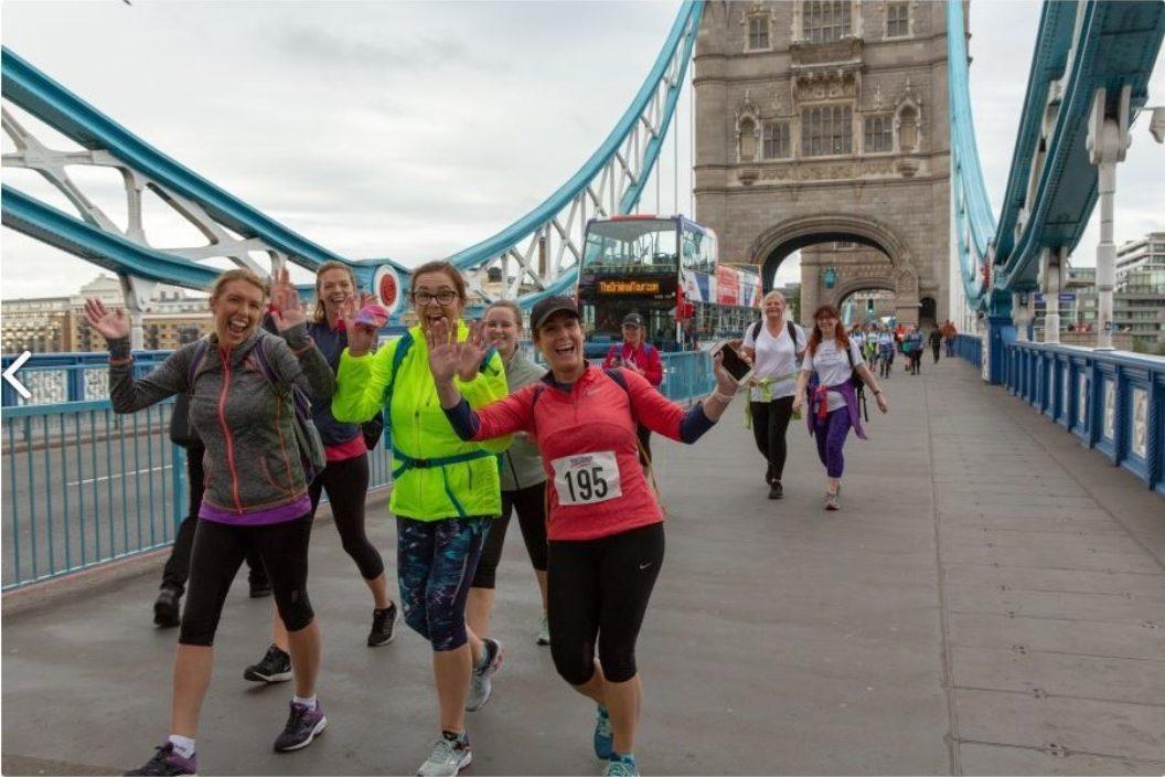 London marathon walk