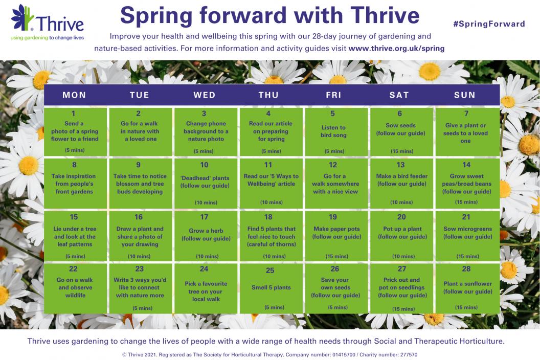 Spring forward with Thrive calendar