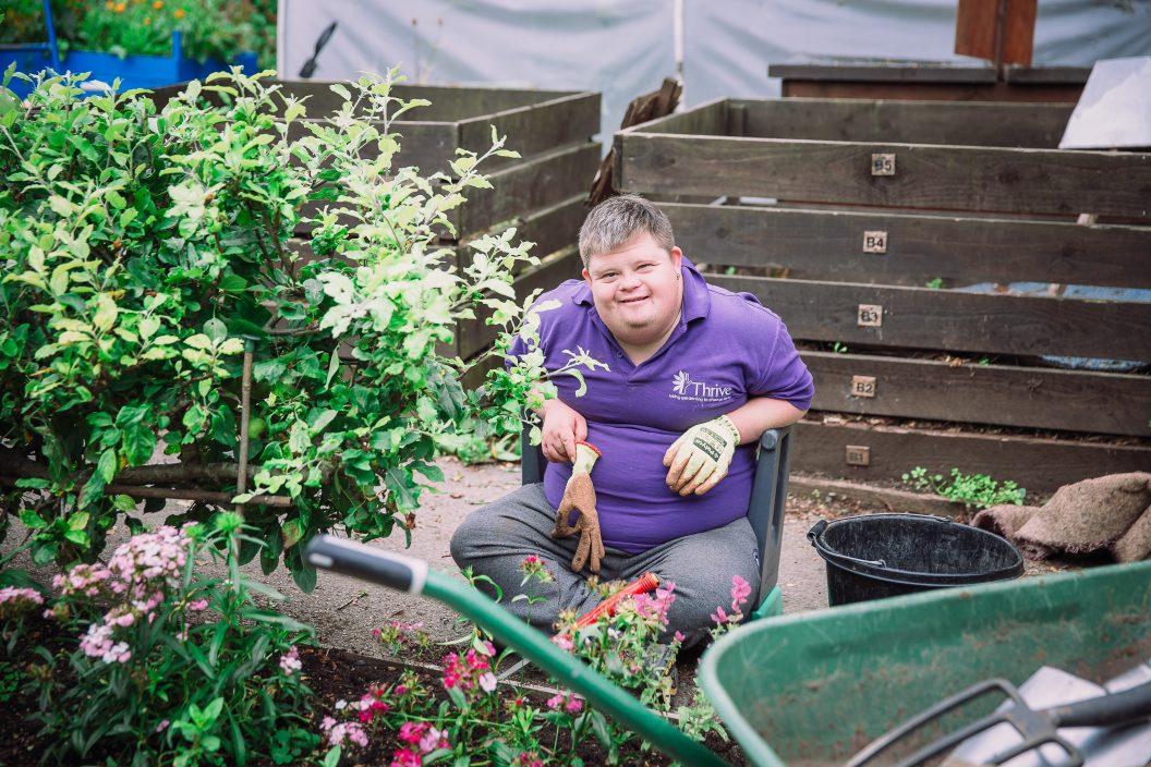 Martyn M weeding Charlie Garner 2019