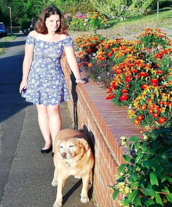 Katy T and dog 2