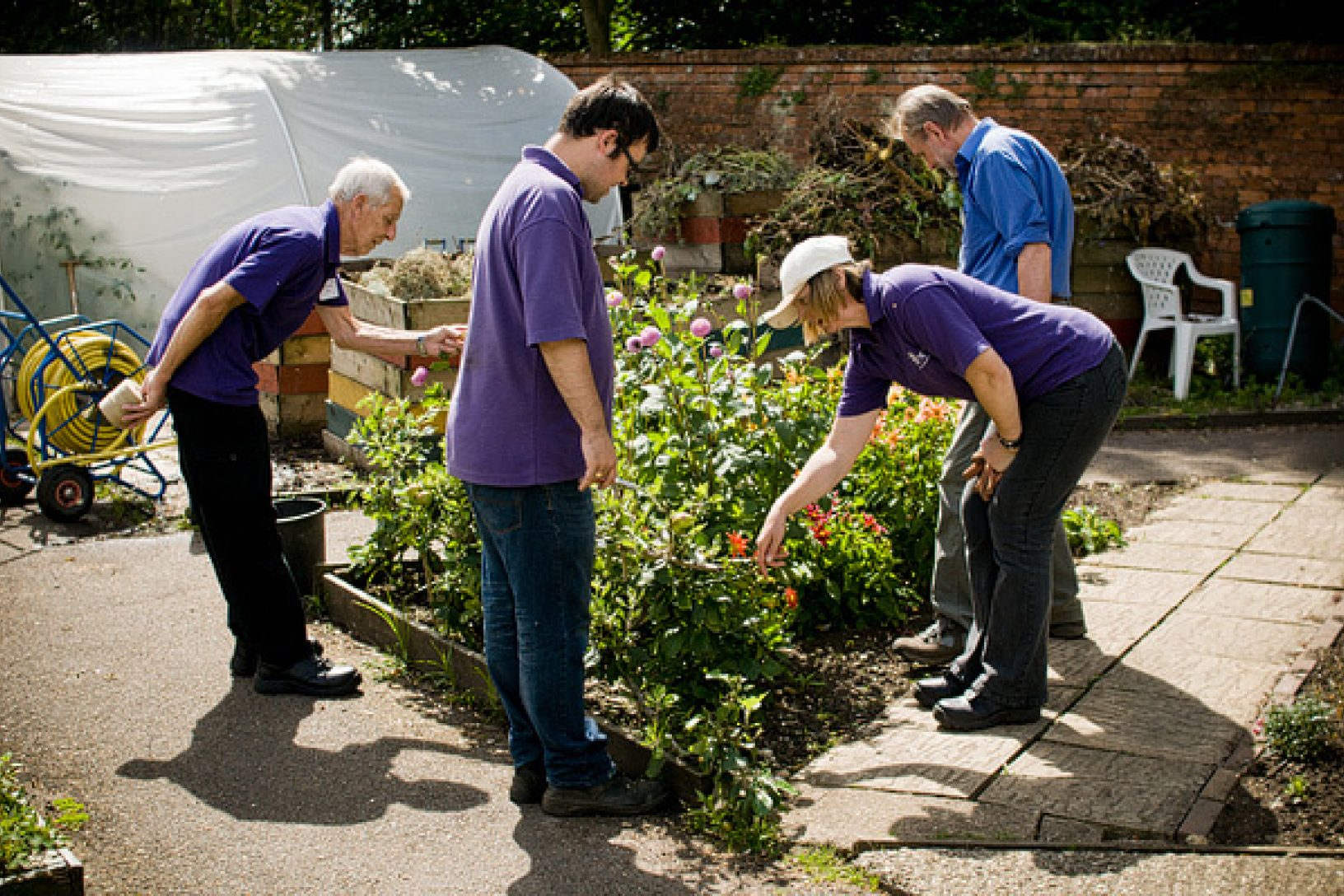 Clients volunteers at Trunkwell