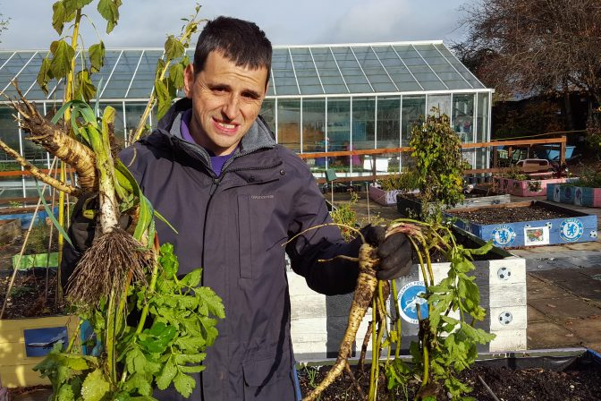 Adam with parsnips 1