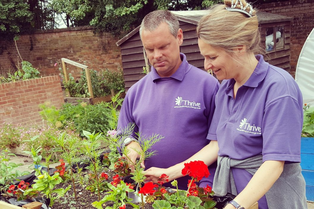 Helen and Tony with Forest Garden product