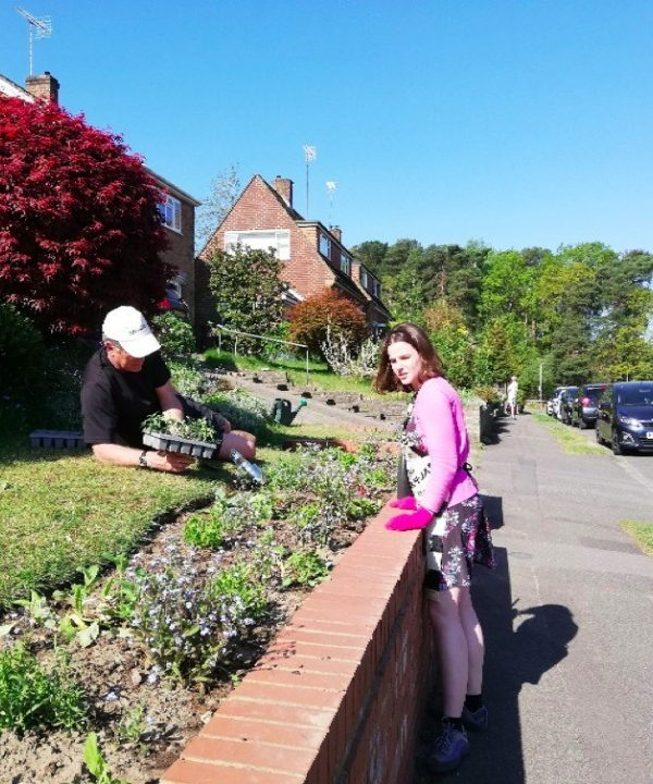 Katy T planting 2